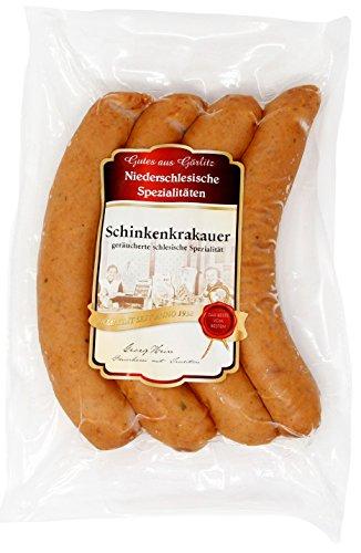 Schinkenkrakauer - Bockwurst aus Görlitz - Schlesische Spezialität nach Rezeptur von...