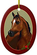 Personal Arabian Horse Cameo Holiday Ornament
