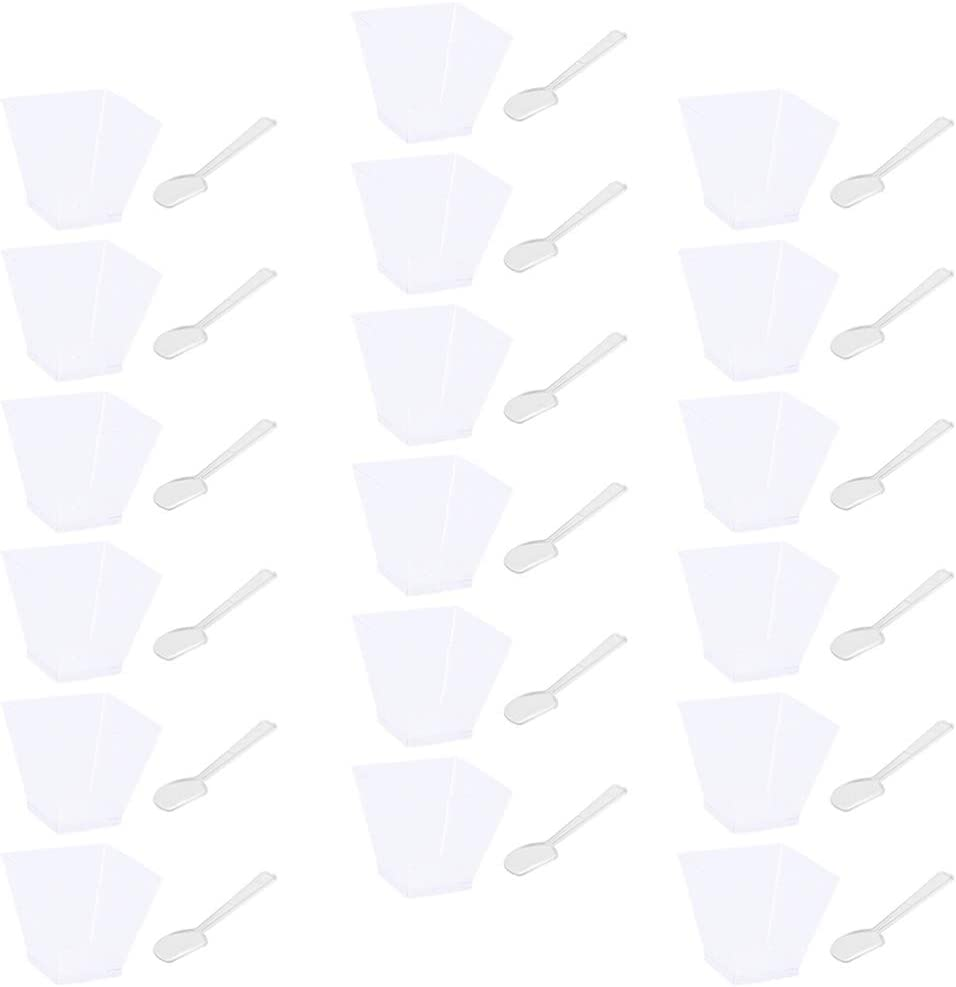 DOITOOL Fixed price Japan's largest assortment for sale 50 Pack Square Clear Plastic Dessert Small Cups Pl