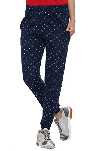 Vimal Women's Cotton Blended Trackpants (Blue, XL)