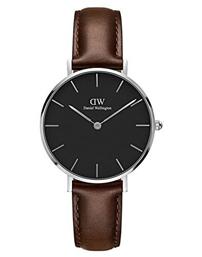 Daniel Wellington Damen Analog Quarz Uhr mit Leder Armband DW00100177