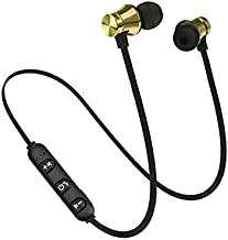 Ruimin Active Noise Cancelling Headphones Wireless in Ear Earbuds-HD Stereo Sweatproof Sports Magnetic Earphones Bluetooth Headset with Microphone