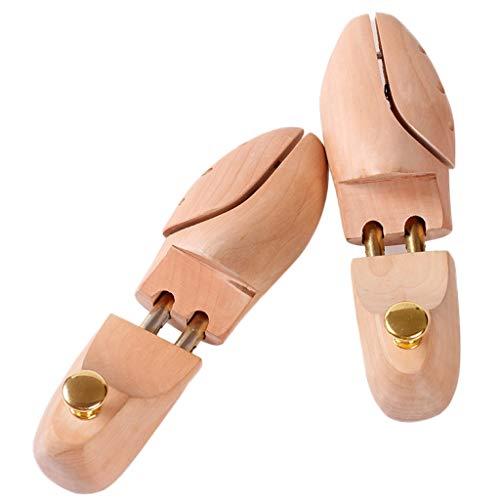 Yyqx Zapatero para hombre y zapato de madera, telescópicamente ajustable, resistente a las arrugas a la deformación (tamaño: 41-42)