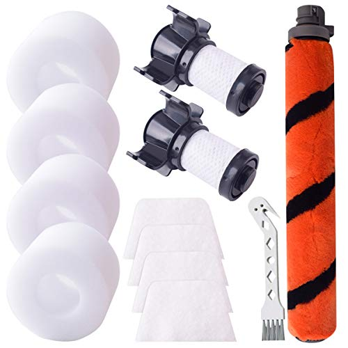 Replacement Kit Brush Roll Foam Felt Filter Motor Filter for Shark ION Flex DuoClean IF100 X30 X40 F60 F80 IF200 IF201 IF202 IF205 IF251 IF252 IF281 IF282 IF285 UF280 IC205 IR70 IR100 IR101 Vacuum