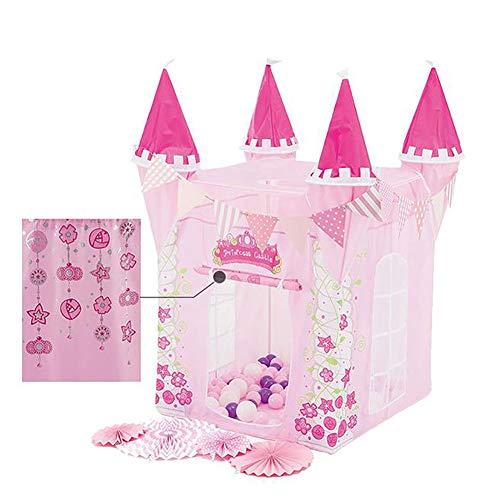 LTJY Kinderzelt Prinzessin Spielzelt für Mädchen - Castle Kinderzimmer mit Tragetasche - Kinderhaus- Spielzeug für Innen- und Außenspiele 80cm x 130cm (DxH)