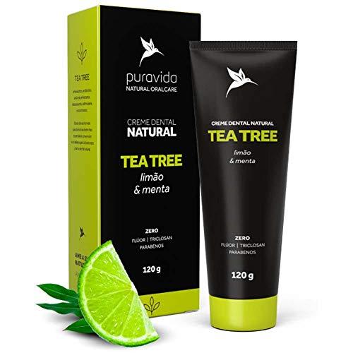 Creme Dental Tea Tree (Limão e Menta) 120g Puravida