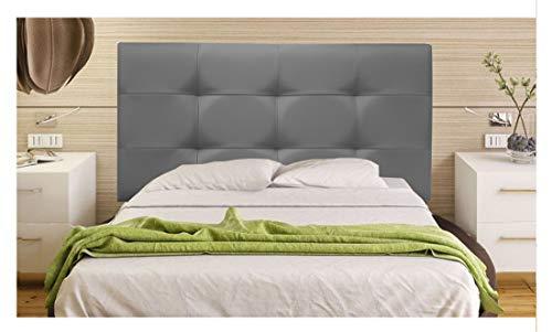 ONEK-DECCO Cabecero tapizado en Polipiel de Dormitorio Tennessee Medidas cabecero de Cama niño, Juvenil y Matrimonio Cabezal Blanco, tapizado, Acolchado (150x70, Gris)
