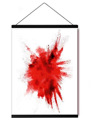 Close Up Magnetische Posterleiste - 2 Poster-Aufhänger/Posterschienen/Plakatleisten - MDF - Schwarz - 62 cm