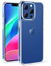 NIMASO ケース iPhone 13 Pro 用 カバー iPhone13 Pro 対応 強化ガラス 半透明 マットタイプ 指紋防止 耐衝撃 ストラップホール付き アンチグレア 6.1インチ用 NSC21H311