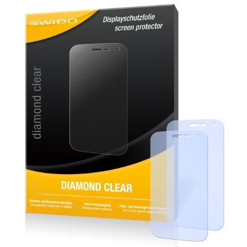 SWIDO 2 x Bildschirmschutzfolie Wiko Barry Schutzfolie Folie DiamondClear unsichtbar