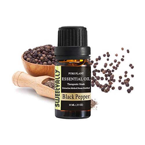 Black Pepper Essential Oil - Organic Pure Essential Oil - Topically Applied in Diffuser, Humidifier, Massage, Skin & Hair Care, Cleaning -10ml