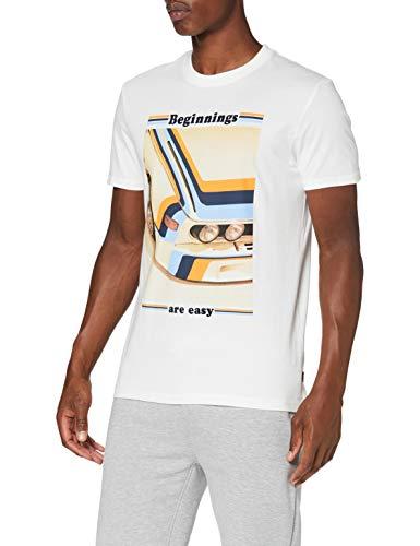 Springfield 3Ip Beginning Car-c/96 Camiseta, Blanco (Ivory 96), S (Tamaño del Fabricante: S) para Hombre