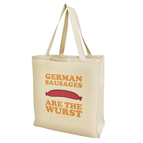 German Sausages are the Wurst Funny Humor Grocery Travel Reusable Tote Bag