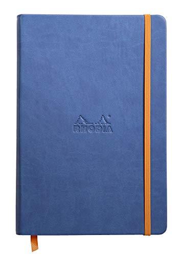 Rhodia Rhodiarama Webnotebook - Lined 96 sheets - 5 1/2 x 8 1/4 - Sapphire Cover