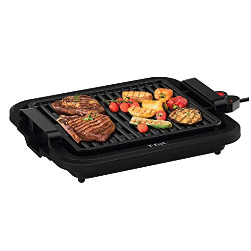 T-fal TG403D52 Compact Smokeless Indoor Sear Capability, Electric Grill, 4 Servings, Black