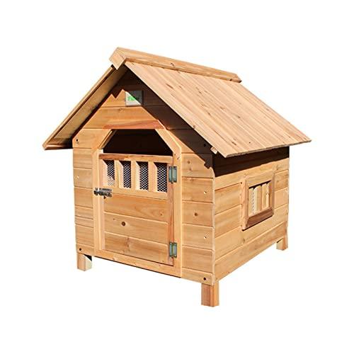 YHWD Installazione Facile Cuccia in Legno, Cuccia per Cani Grande con Porte E Finestre, Cuccia da Esterno per Cani in Legno,XL