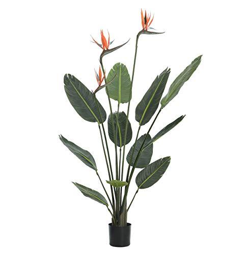 Artificial Bird of Paradise Plant (Strelitzia)–1,2m de alto, Premium Calidad réplica de interior.