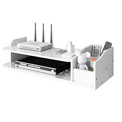 JCNFA-BOEKENPLANK Wandplank, Set-top Box Shelf, Console Storage Unit Organization, Frame DVD, Witte Zwevende Tv Aan De Muur, 3 Maten (Color : White, Size : B)