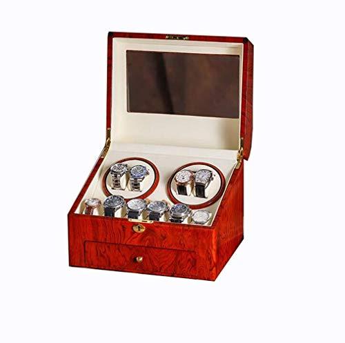 cajas de cartón para embalaje Mute Bobinador de reloj automático, 4+6 devanadera de reloj con motor silencioso Mabuchi -5 modos 100% hecho a mano embalaje caja de cartón