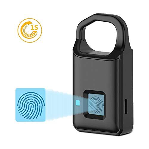 Fingerabdruck-Vorhängeschloss, Elektronisches Türschloss Fingerabdruckerkennung Intelligentes, schlüsselloses, wasserdichtes Sicherheitsschloss für die Diebstahlsicherung