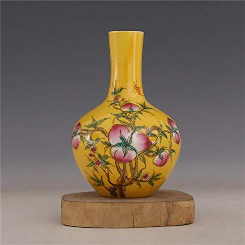 Ethan Republiek China Ju Ren Tang Pastel Perzik Keramische Vaas Hemelse Fles Tweedehands Goederen Antieke Porselein