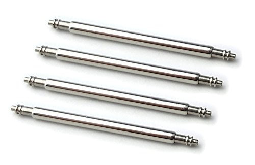 HEAVY DUTY 22mm SPRING BAR 1.8mm thickness Packet of Four Stainless Steel Watch Pins