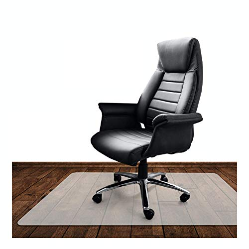 KLINOO | Bodenschutzmatte transparent | 80 x 120 cm | Bürostuhl Unterlage | Grillunterlage | Deutsches Produkt