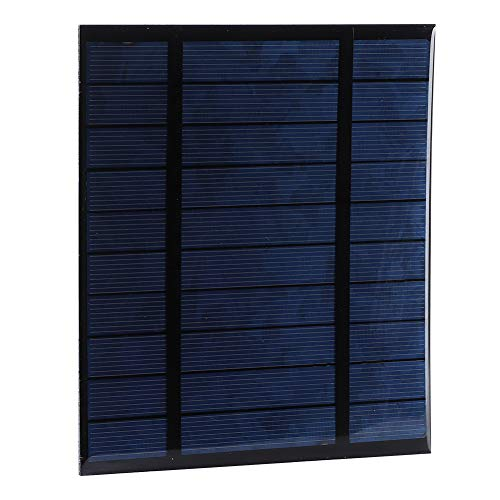 Weikeya Cargador de Panel Solar, con Panel Solar Plegable de Polysilicon 2.5W 5V para la Carga del Dispositivo móvil al Aire Libre