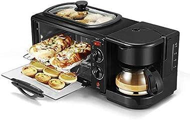 Rindasr Countertop microwave 3 in 1 Electric Breakfast Machine Multifunction Coffee Maker Frying Pan Mini Oven Household Brea