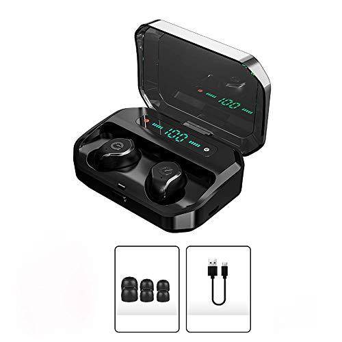 NoNo Bluetooth koptelefoon vingerafdruk aanraken waterdicht en zweetbestendig, draadloze oortelefoon ingebouwde microfoon met magnetisch laadvak LED digitale display oortjes in-ear design