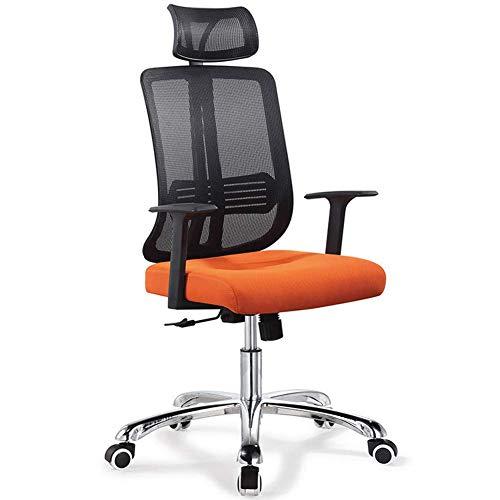 Silla de Oficina Mesh Rotary Computer Conference/Home Mesas y sillas tapizadas Comodo apoyabrazos Respaldo-Orange