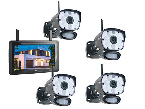 Elro IP-bewakingscameraset outdoor met 9 inch binnenmonitor, bewegingsmelder/nachtzicht, app-besturing