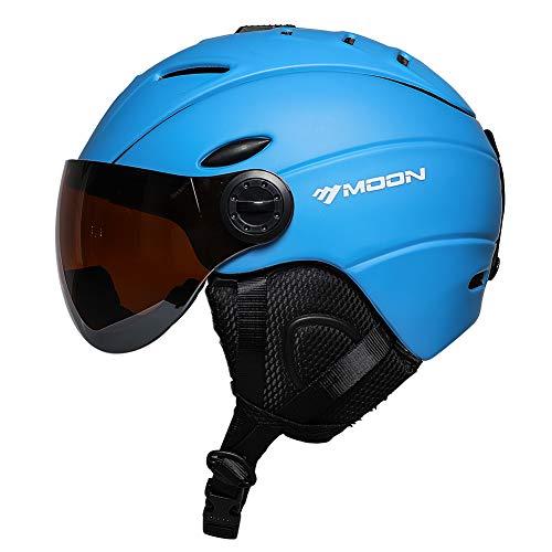 MOON Snow Helmet Snowboard Helmet Ski Helmet Men (Matt Blue, M)