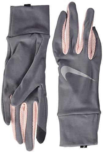 Nike Damen Womens Lightweight Tech Running Gloves 070 Gunsmoke/Storm pink/s Handschuhe, M
