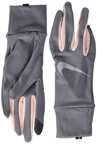Nike Damen Womens Lightweight Tech Running Gloves 070 Gunsmoke/Storm pink/s Handschuhe, S