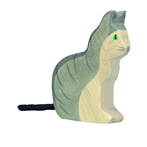 Holztiger Katze, sitzend, 80055