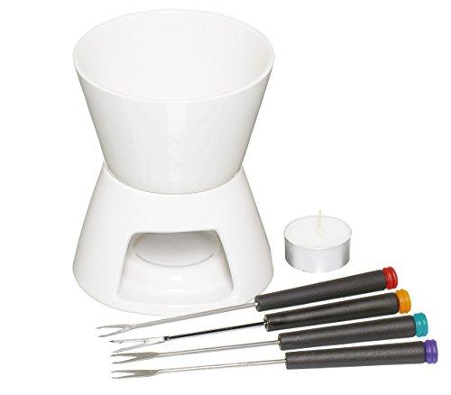 Kitchen Craft Service à fondue au chocolat avec 4 fourchettes