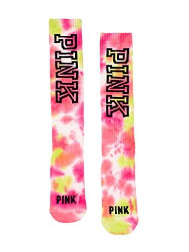 Victoria's Secret PINK Knee High Socks Pink Tie Dye