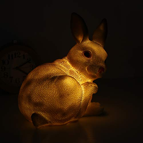 OSALADI paneles solares LED luz de animal impermeable paisaje lámpara de dibujos animados jardín patio lámpara de balcón adorno (Bunny)