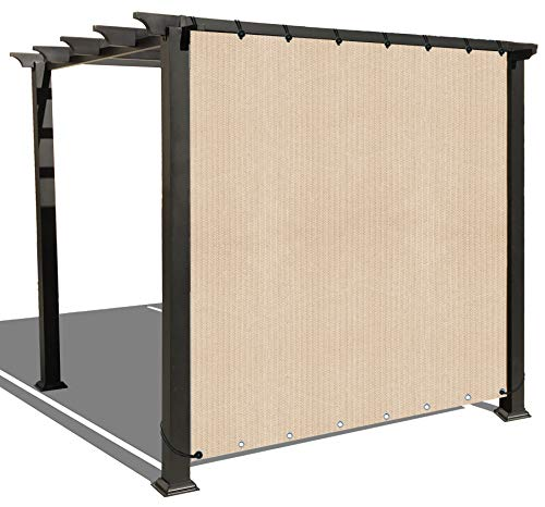 Alion Home Sun Shade Privacy Panel with Grommets on 2 Sides for Patio, Awning, Window Cover, Canopy, Pergola or Gazebo, Banha Beige (12'x 4')