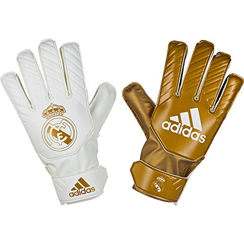 adidas Real Madrid 2019-2020 Niño, Guante de Portero, Gold Metallic-White, Talla 7