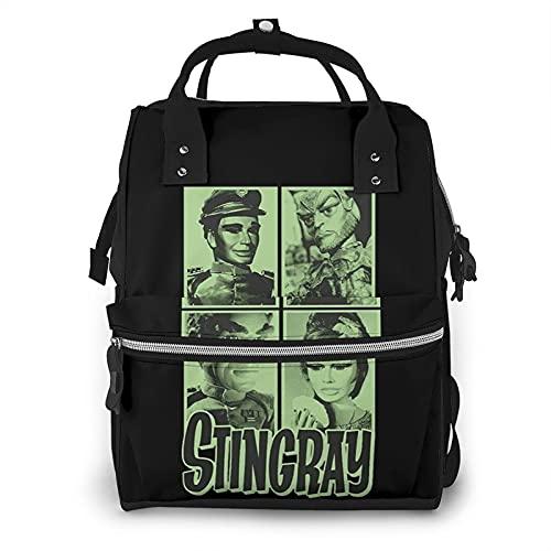 EDGHUOEIH Stingray Mug Shots Bolsa de pañales Mochila multifunción Travel Back Pack Baby Cambio Bolsas de gran capacidad impermeable con estilo
