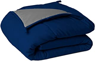 Sleepyhead Microfiber Reversible Comforter 220 GSM - Double Size, Royal Blue & Ash Grey