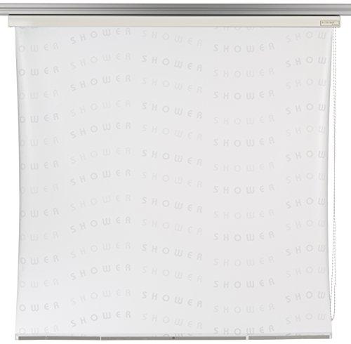 ECO-DuR 4024879003074 Kassetten Duschrollo 134 cm weiß - Shower weiß