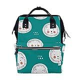 Lindo león de dibujos animados para pañales de bebé, mochila para mamá, mujer, bolsa de pañales, multifunción, mochila de viaje, escuela, universidad, grande