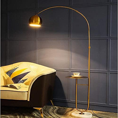 Ligera, lujosa, creativa, LED, de hierro, con mando a distancia, apaga la luz de las lámparas de pie regulares para salón, dormitorio, mesita de noche, oficina, despacho, M