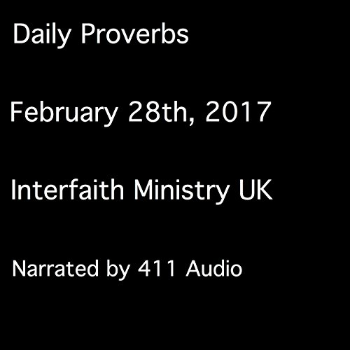 Daily Proverbs, February 28, 2017 audiobook cover art