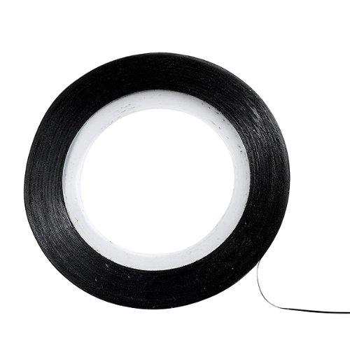 Décors adhésifs pour ongles ruban noir 149117