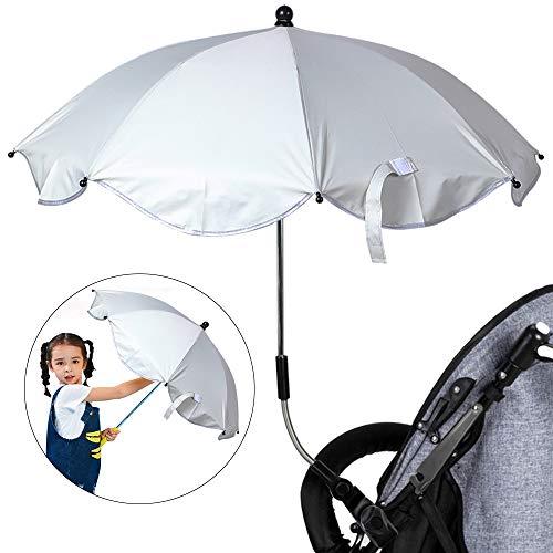 IVYSHION ombrellino Parasole per Passeggino Universale protezione Anti UV Pieghevole Ombrello per Passeggino/carrozzina Bambino diametro 65 cm