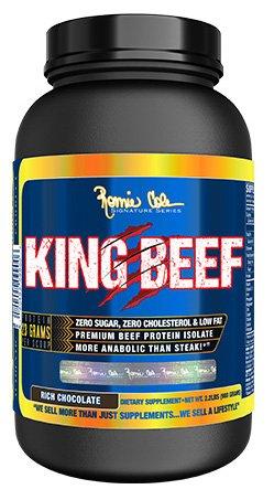 RCSS King Beef Protein Eiweiß 100% Beefprotein Isolate Proteinshake Laktosefrei Bodybuilding 908g (908g Chocolate - Schokolade)